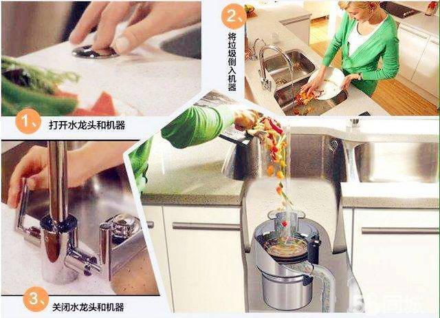 厨房垃圾处理器使用方法